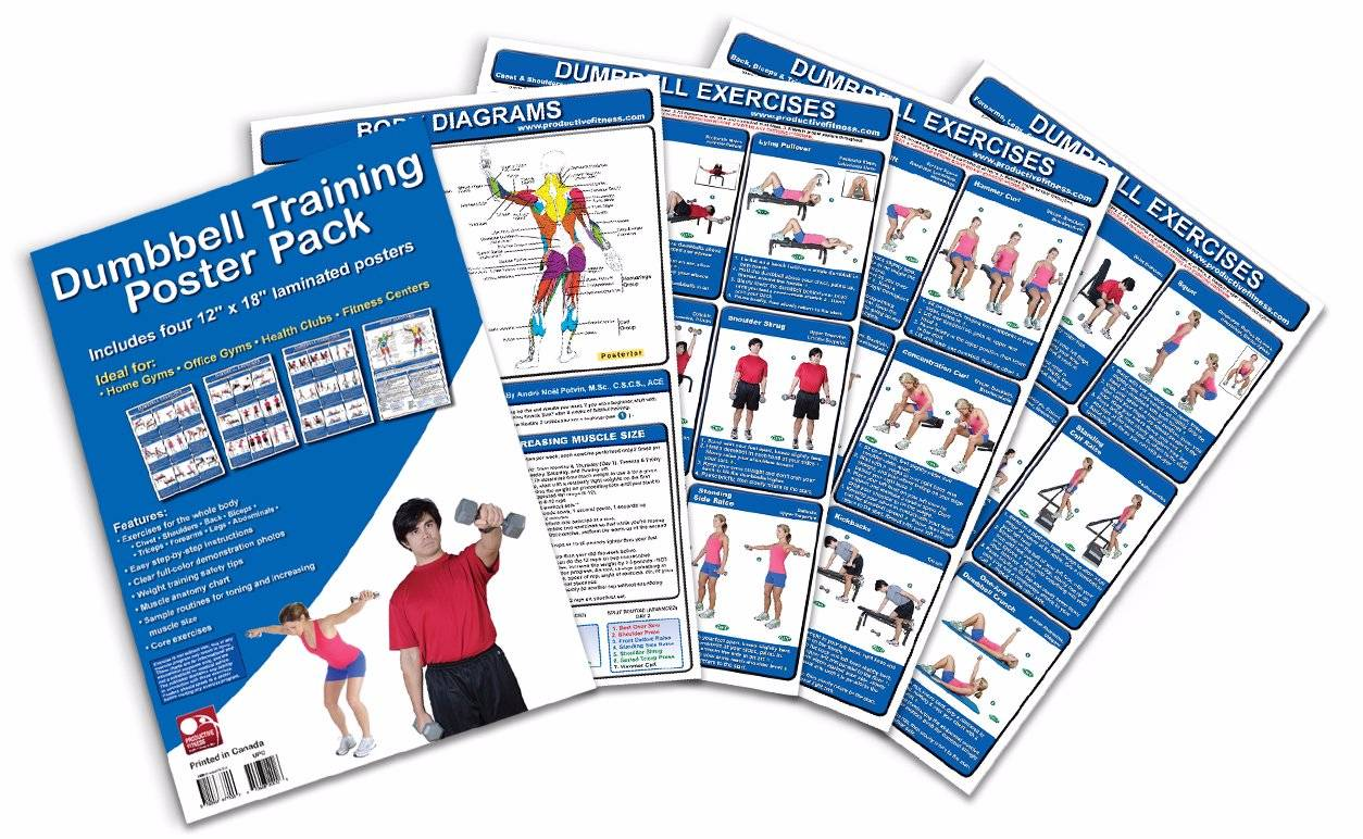 Dumbbell Training Poster Pack Exercise Publications Posters
